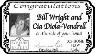 Congratulations Bill Wright and Cia Diola-Vendrell