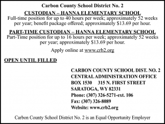Custodian - Hanna Elementary School