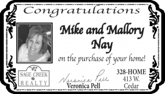 Congratulations Mike and Mallory Nay