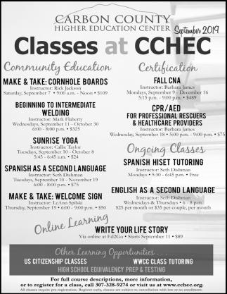 Classes at CCHEC