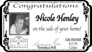 Congratulations Nicole Henley