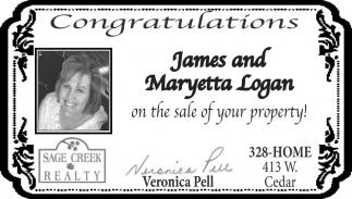 Congratulations James and Maryetta Logan