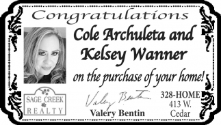 Congratulations Cole Archuleta and Kelsey Wanner