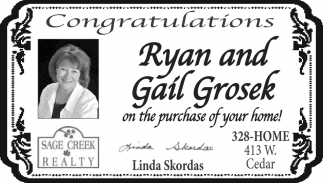Congratulations Ryan and Gail Grosek