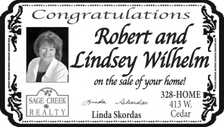 Congratulations Robert and Lindsey Wilhelm