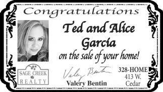 Congratulations Ted and Alice Garcia