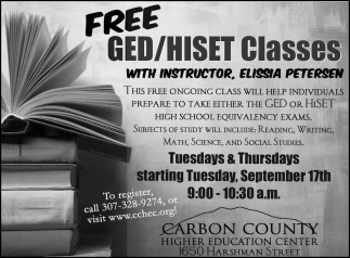 Free GED/HISET Classes