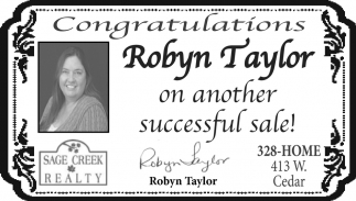 Congratulations Robyn Taylor