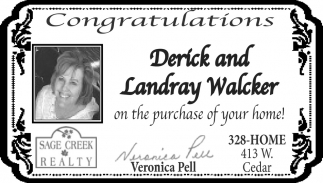 Congratulations Derick and Landray Walcker