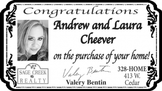 Congratulations Andrew and Laura Cheever