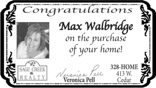 Congratulations Max Walbridge
