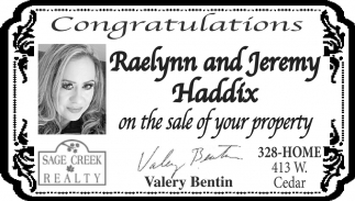 Congratulations Raelynn and Jeremy Haddix