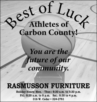 Best of Luck Athletes of Carbon County!