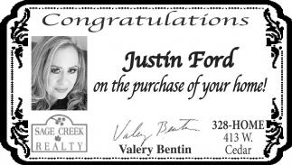 Congratulations Justin Ford