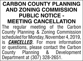 Meeting Cancellation