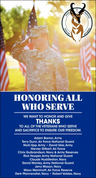 Honoring All Who Serve