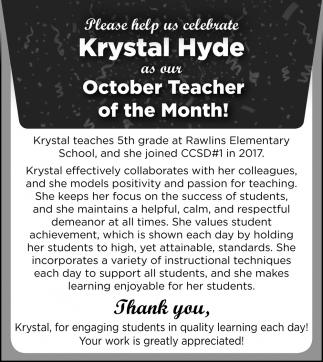 Krystal Hyde