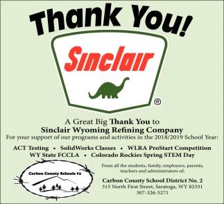 Thank You Sinclair