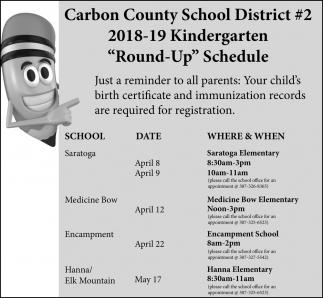 Kindergarten Round-Up Schedule