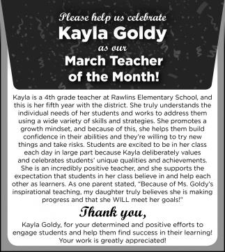Kayla Goldy
