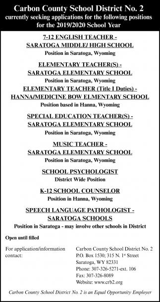 7-12 English Teacher