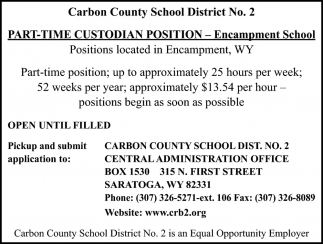 Part-Time Custodian Position