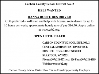 Hanna Route Bus Driver