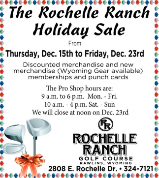 Holiday Sale, Rochelle Ranch