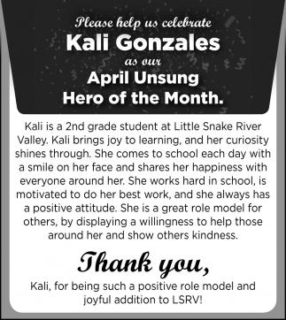 Kali Gonzales