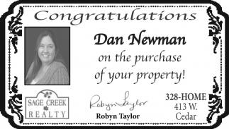 Congratulations Dan Newman
