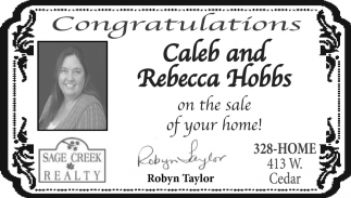 Congratulations Caleb and Rebecca Hobbs