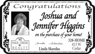 Congratulations Joshua and Jennifer Higgins
