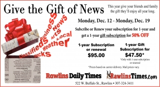 Give the gifts of News