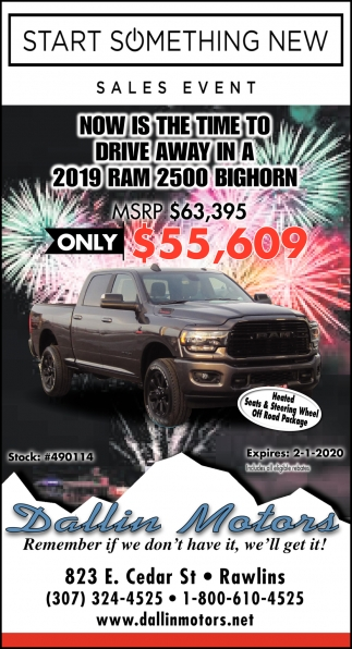 Now is the Time to Drive Away in a 2019 Ram 2500 Bighorn