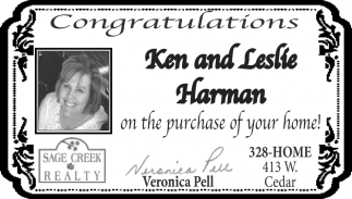 Congratulations Ken and Leslie Harman on the Purchase of Your Home!