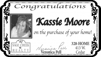 Congratulations Kassie Moore On the Purchase of Your Home!