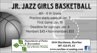 Jr. Jazz Girls Basketball