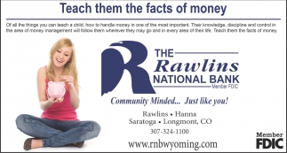 Teach them the facts of money
