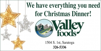 We have everything you need for Christmas Dinner!
