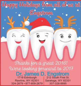 Happy Holidays from all of us at Engstrom