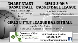 Girls little league basketball