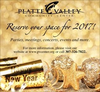 Reserve your space for 2017