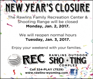 New Year's Closure
