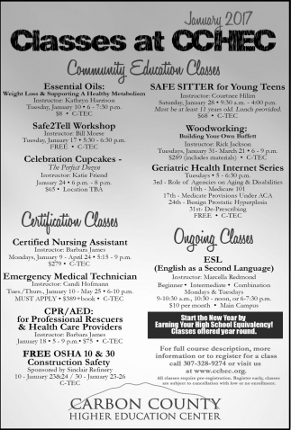 At cchec carbon county higher education center rawlins wy carbon county higher education center education classes ads from rawlins daily times xflitez Choice Image