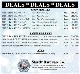 Deals, deals, deals!