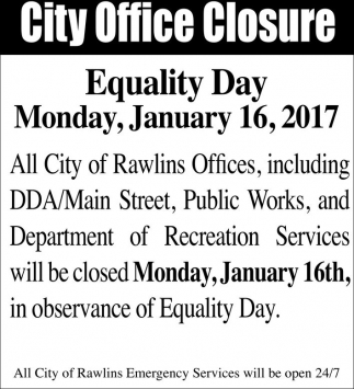 City office closure