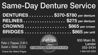 Same Day Denture Service
