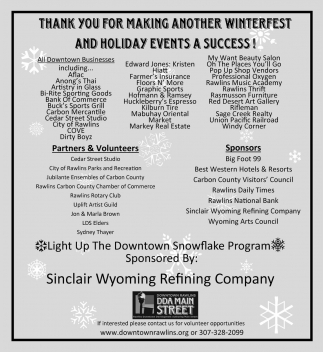Thank you for making another winterfest and holiday events a succes
