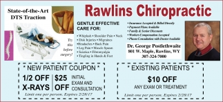 New patient coupon and existing patients coupon