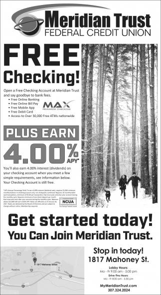 Free Checking!